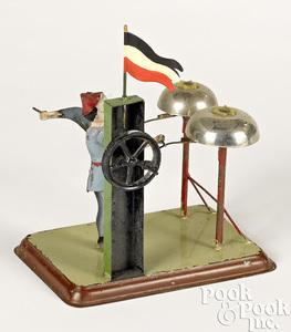 Becker clown bell ringer steam toy accessory