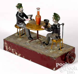 Becker painted tin drinkers steam toy accessory