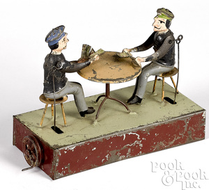 Becker tin card players steam toy accessory