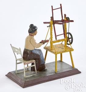 Gunthermann woman at yarn winder steam toy