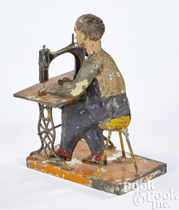Bing man at sewing machine steam toy accessory