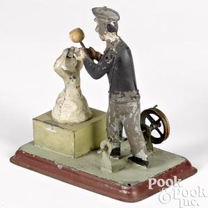 Wunderlich tin sculptor steam toy accessory