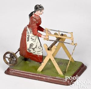 Becker tin woman sawyer steam toy accessory