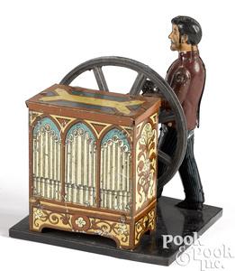 Carette musical organ grinder steam toy accessory