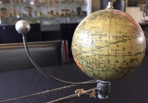 Plank painted tin orrery steam toy accessory