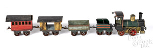 Marklin 1020 five-piece clockwork train set