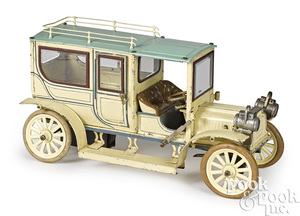 Large Carette tinplate clockwork limousine