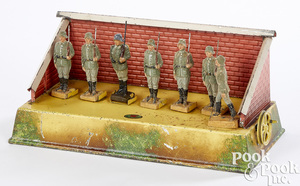 Doll & Cie soldiers at drill steam toy accessory