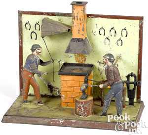 Becker blacksmith shop steam toy accessory