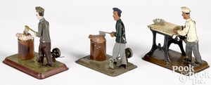 Three butcher and baker steam toy accessories