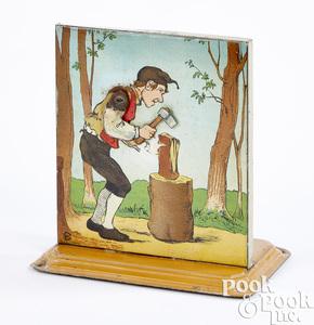Bing man chopping wood steam toy accessory