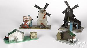 Four Wilhelm Krauss steam toy accessories