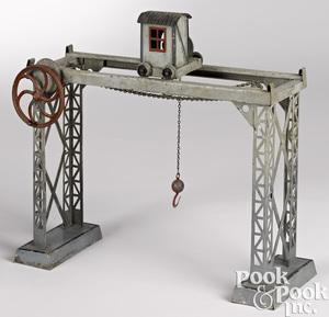 Doll & Cie overhead railway crane steam toy