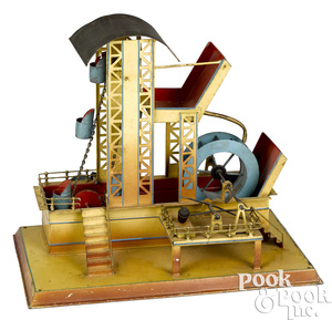 Falk painted tin dredge steam toy accessory