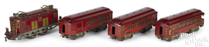 American Flyer Hamiltonian four-piece train set