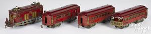 American Flyer Hamiltonian four-piece train set