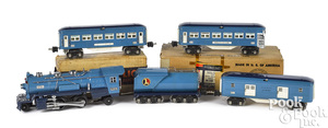 Lionel five-piece Blue Comet train set