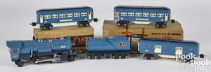 Lionel five-piece Blue Comet train set