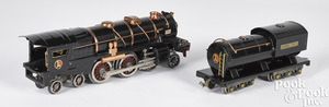 Lionel train locomotive and tender