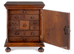 Chester County, Pennsylvania walnut spice chest
