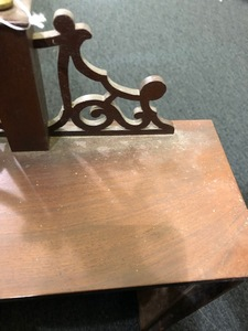 Boston Federal mahogany shelf clock