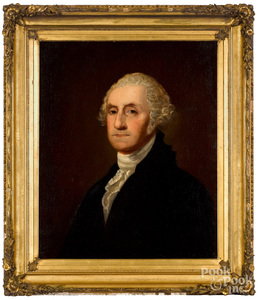 Oil on canvas portrait of George Washington