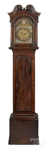Philadelphia Chippendale walnut tall case clock