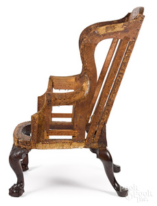 Important Philadelphia Chippendale easy wing chair
