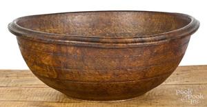 Massive New England burl bowl