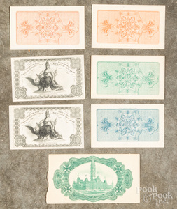 Four 1893 Chicago Columbian Exposition tickets