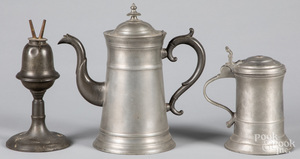 American pewter coffee pot, etc.