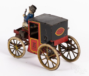 Lehmann tin lithograph wind-up horseless carriage