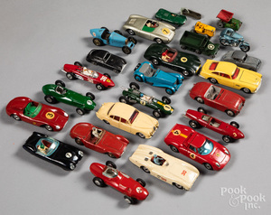 Collection of eleven Dinky race cars, etc.