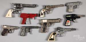 Collection of nine cap guns