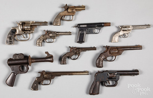 Collection of ten cap guns