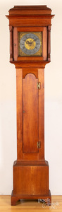 Pennsylvania Queen Anne walnut tall case clock