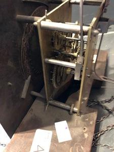 Pennsylvania Queen Anne walnut tall case clock