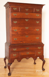 Pennsylvania Chippendale cherry high chest