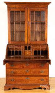 Pennsylvania Chippendale walnut secretary desk