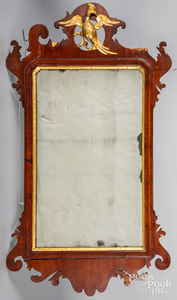 Two Chippendale mahogany mirrors