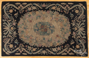 Room sized hooked rug