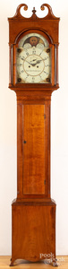 Federal walnut tall case clock