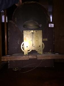 Federal walnut tall case clock