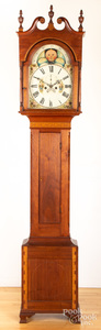 Mid Atlantic Federal walnut tall case clock