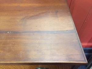 Pennsylvania Federal cherry and tiger maple chest of drawers