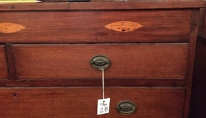Pennsylvania or Maryland Federal mahogany chest of drawers