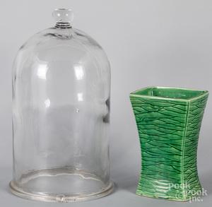 Glass cloche, etc.