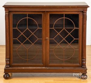 Karcher & Rehn Co. mahogany bookcase
