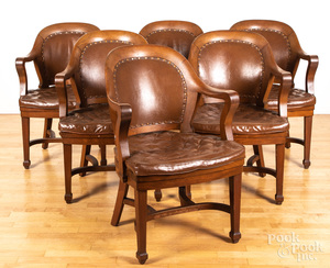 Six Clemco desk chairs