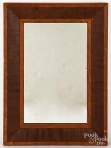 Empire mahogany veneer mirror